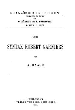 Franz  sische studien PDF