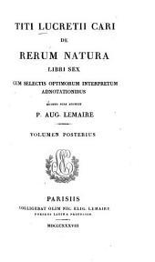 De rerum natura: Libri sex, Volume 2