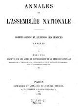 Annales de l'assemblée nationale: compte-rendu in extenso des séances annexes, Volume22
