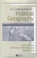 A Companion to Political Geography PDF