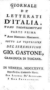 Giornale de' letterati d'Italia: Volume 38,Parte 1