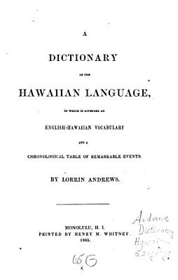 A Dictionary of the Hawaiian Language PDF