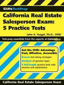 CliffsTestPrep California Real Estate Salesperson Exam PDF