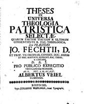 Theses Ex Universa Theologia Patristica Selectae: Pages 1-3