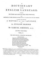 A Dictionary of the English Language     To which is prefixed a grammar of the English language     The eighth edition PDF