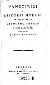 Panegirici e discorsi morali. 4. ed
