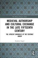 Medieval Authorship and Cultural Exchange in the Late Fifteenth Century PDF