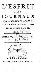 L'Esprit des journaux, françois et étrangers: Numéros7à8