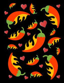 I Love Hot Peppers Notebook Journal Black 150 College Ruled Pages 8. 5 X 11