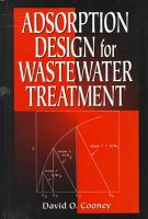 Adsorption Design for Wastewater Treatment PDF