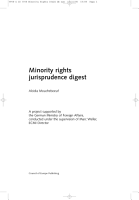 Minority Rights Jurisprudence Digest PDF