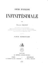 Cours d'analyse infinitésimale