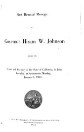 Appendix to the Journals of the Senate and Assembly of the ... Session of the Legislature of the State of California: Volume 1