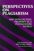 Perspectives on Plagiarism and Intellectual Property in a Postmodern World PDF