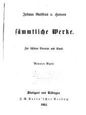 Johann Gottfried v. Herder's sämmtliche Werke in vierzig Bänden: Bände 21-22