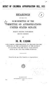 Second Deficiency Appropriation Bill, 1920: Hearings Before the Subcommittee of the Committee on Appropriations, United States Senate, Sixty-sixth Congress, Second Session, on H.R. 12046 ....