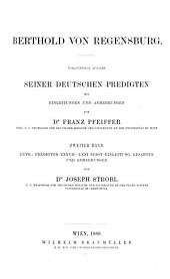 Berthold von Regensburg: Band 2
