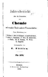 Jahresbericht über die Fortschritte der Chemie und verwandten Theile anderer Wissenschaften
