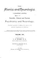 The Alienist and Neurologist PDF