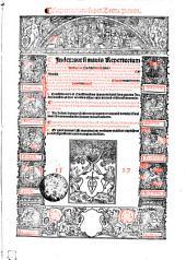 Repertorium super Lectu. Panor. Index: aut si mauis Repertorium admodum solennis super Commentarijs excellentissimi decretorum doctoris Nicolai de Tudeschis: Siculi: Abbatis Monace[n]sis: Archiepiscopi Panormitani: ac sacrosancte Romane ecclesie Cardinalis reuerendissimi: in quinq[ue] libros Decretalium: summo labore ac vigilantia recognitus examussimq[ue] castigatus: ita vt quicquid bonarum materiarum per totum opus Commentariorum: seu Lecturarum: Panormitani hincinde sparsim habetur: hoc indice ad ordine[m] Alphabeti compacto breuissimis contineatur. Cui ex corseto aliqua non minus necessaria q[uam] vtilia inserta sunt. Consilijs vero et Questionibus Panormitani suus p[ro]prius Jndex seorsim ab hoc excusus est: ac calci dictoru[m] co[n]silioru[m] annexus. Habes et hoc in Jndice insertas cautelas quasdam iuri opera[m] nauantibus haud vulgariter profuturas: quas sub verbo Cautela inuenies. Nec desunt insuper Differentie legum et canonu[m] domini Gualuani Bononiensis: fini huius indicis adiecte