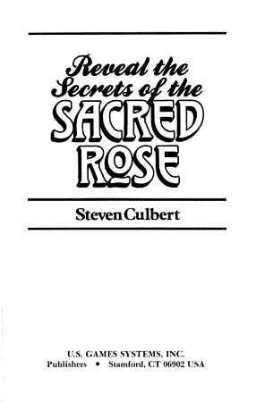 Reveal the Secrets of the Sacred Rose Tarot PDF
