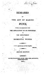 Remarks on the Art of Making Wine