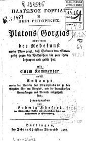 Platonos Gorgias e peri retorikes