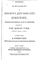 Doggett s New York City Directory  for     PDF