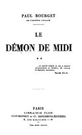 Le démon de midi: Volume2