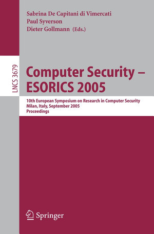 Computer Security   ESORICS 2005