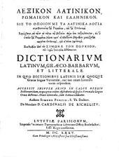 Dictionarium Latinum Graeco-Barbarum et Litterale