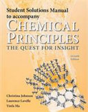 Student Solutions Manual for Chemical Principles
