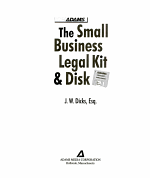 Small Business Legal Kit With Disk
