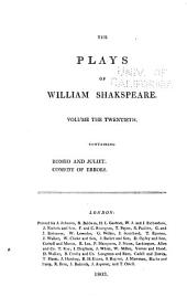 The Plays of William Shakspeare: With the Corrections and Illustrations of Various Commentators, to which are Added Notes, Volume 20