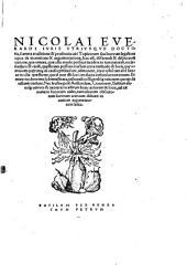 Nicolai Everardi ... Topicorum seu locorum legalium opus de inventione & argumentatione