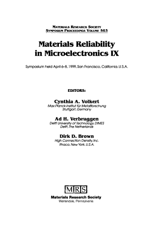 Materials Reliability in Microelectronics