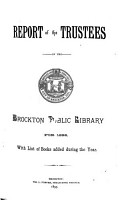 Annual Report of the Trustees of the Public Library and the Report of the Librarian for the Year Ending     PDF