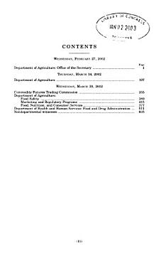 Agriculture  Rural Development  and Related Agencies Appropriations for Fiscal Year 2003 PDF