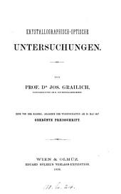 Krystallographisch-Optische Untersuchungen...