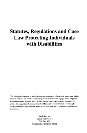 Statutes  Regulations  and Case Law Protecting Individuals with Disabilities