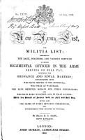 The New Army List  and Militia List PDF