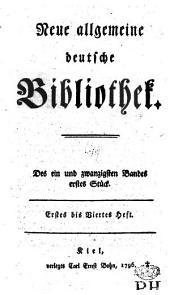 Neue allgemeine deutsche Bibliothek: Band 21