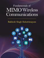 Fundamentals of MIMO Wireless Communications PDF