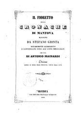 Il fioretto delle cronache di Mantova