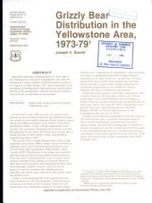 Grizzly bear distribution in the Yellowstone area, 1973-79