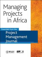 Managing Projects in Africa PDF