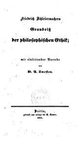 Grundriss der philosophischen Ethik