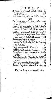 Histoire de Jeanne d'Arc, vierge, heroine et martyre d'etat ...