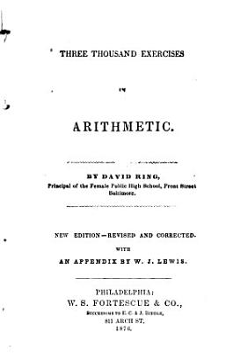 Three Thousand Exercises in Arithmetic PDF