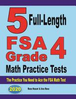 5 Full Length FSA Grade 4 Math Practice Tests PDF